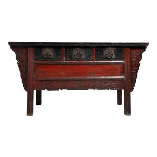 Late Qing Dynasty 3 Drawers Altar Coffer With Original Patina For Sale