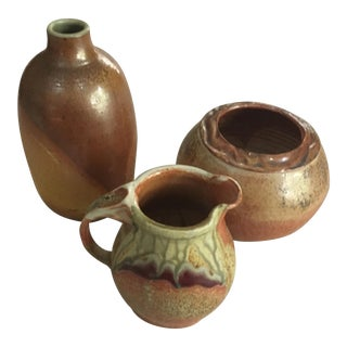 Clay Pottery - Set of 3