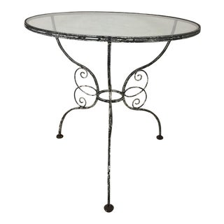 Vintage French Bistro Style Garden or Breakfast Table For Sale