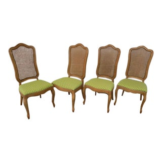 1970s French Provincial Thomasville Tableau Dining Chairs - Set of 4 For Sale