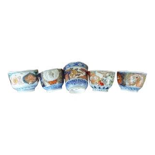 Antique Imari Tea Cups Late 19th Century - Set of 5 For Sale