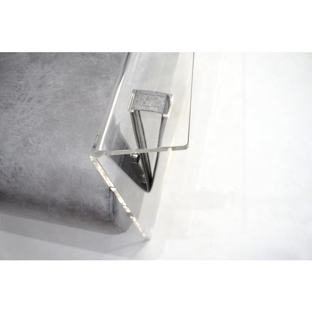 Bespoke Modernist Lucite Acrylic Lounge Armchair - in Showroom For Sale - Image 11 of 12