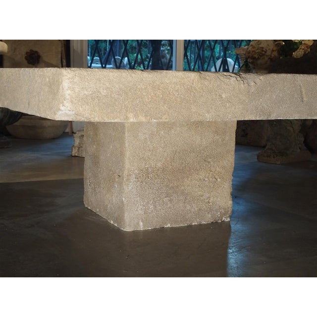 Stone Large Limestone Coffee Table From Provence, France For Sale - Image 7 of 12