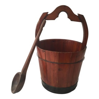 Antique Chinese Wooden Water Bucket