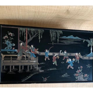 1960s Vintage Chinoiserie Detailed Coffee Table Preview