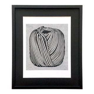 "Roy Lichtenstein Estate Framed Iconic Pop Art Lithograph Print "" Ball of Twine "" 1963 For Sale"