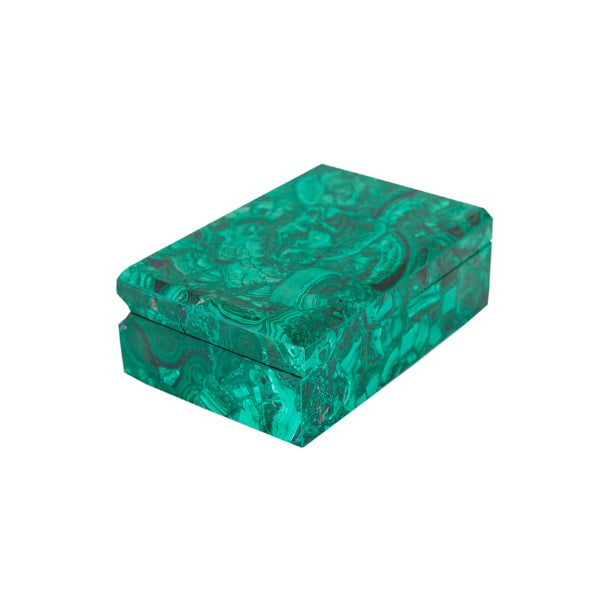 Mid-Century Modern 1970s Malachite Hinged Boxes For Sale - Image 3 of 3