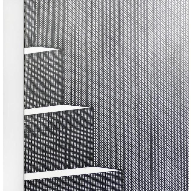 "Gray Piero Fornasetti for Fornasetti-Milano, ""Scaletta"" Folding Screen, Signed 2001 For Sale - Image 8 of 13"