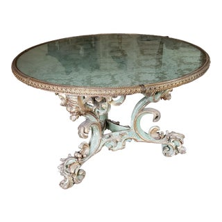 Late 19th Century Antique Upholstered Center Table