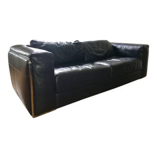 Dark Navy Blue Leather Sofas