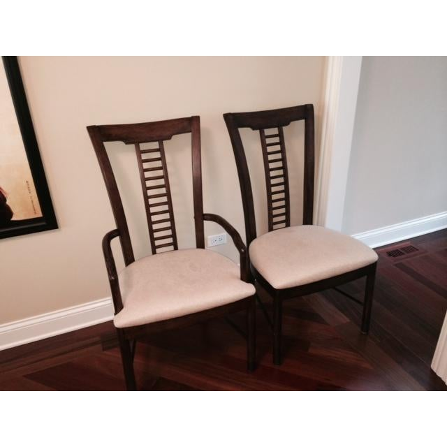 2000s Square Table With Spindle Back Chairs Dining Set For Sale - Image 5 of 8