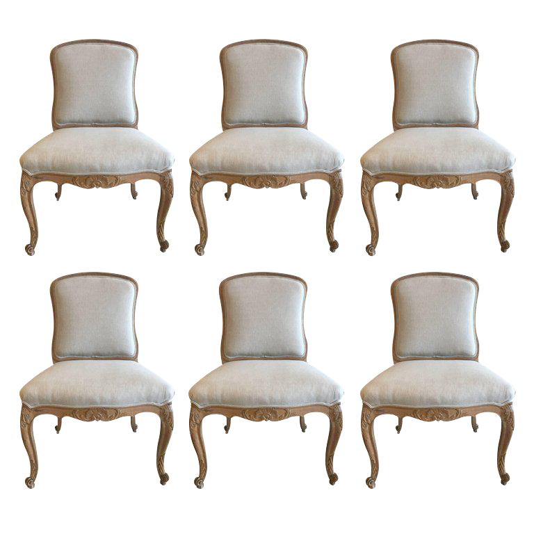 Set Of Six Louis XV Style Side Chairs