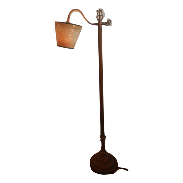 Antique Bridge Arm Floor Lamp - Image 2 of 6