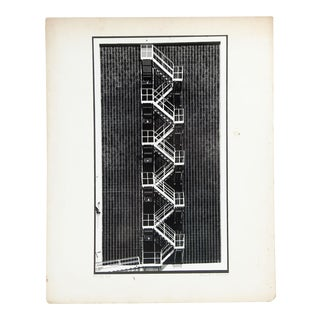 Robert Collier Industrial Staircase Photograph For Sale
