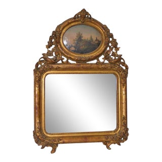 Early 19th Century Painted & Gilt Frame Mirror For Sale
