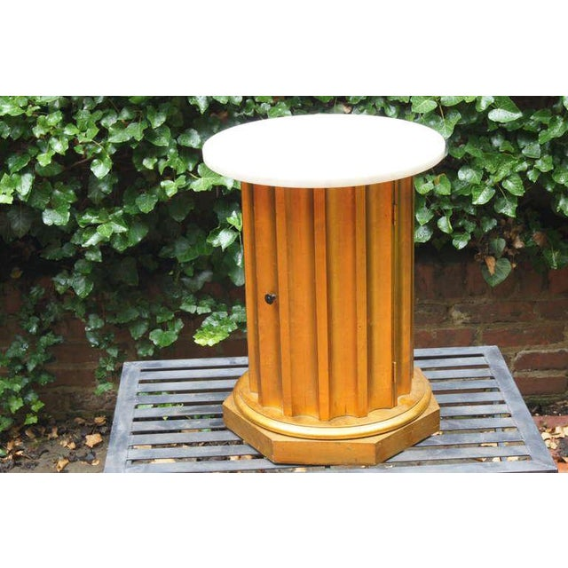 Neoclassical Marble Column Side Table For Sale - Image 3 of 11