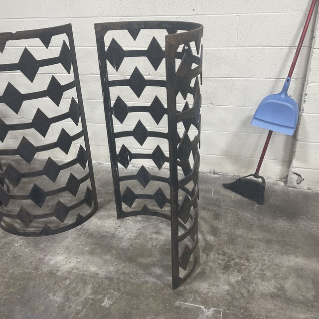 Curved Iron Architectural Panels - Set of 4 For Sale - Image 10 of 11