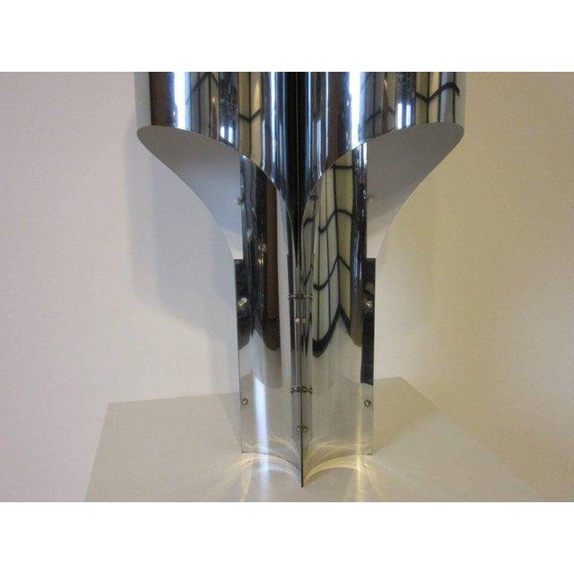 George Sonneman Sonneman Sculptural Chromed Table Lamp For Sale - Image 4 of 8