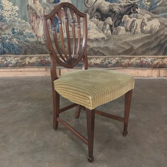 Set of 12 Antique English Sheraton Dining Chairs Includes Four Armchairs For Sale In Dallas - Image 6 of 13