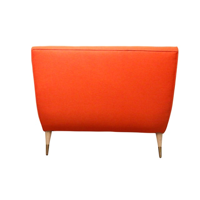 Textile Mid Century Modern Wave Chaise Lounge by Lawrence Peabody for Selig For Sale - Image 7 of 8