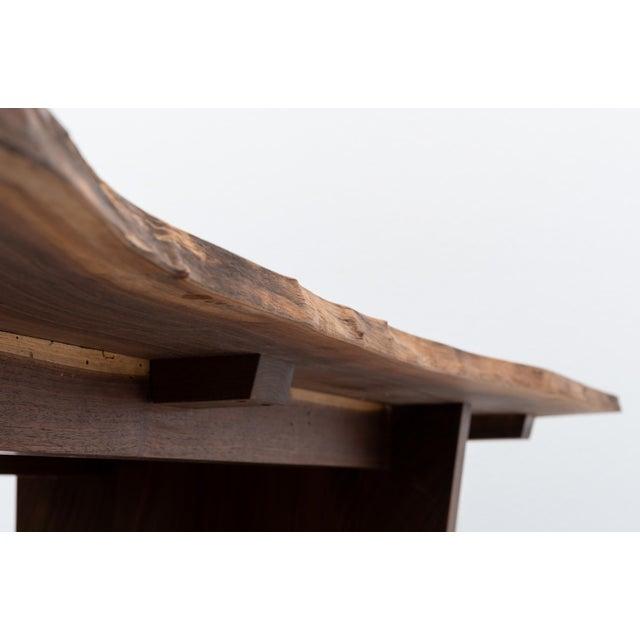 Mira Nakashima Mira Nakashima Michiko Base Dining Table in Walnut With Rosewood Butterflies, New Hope 2018 For Sale - Image 4 of 11
