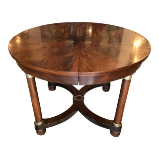 19th Century French Mahogany Center Table For Sale