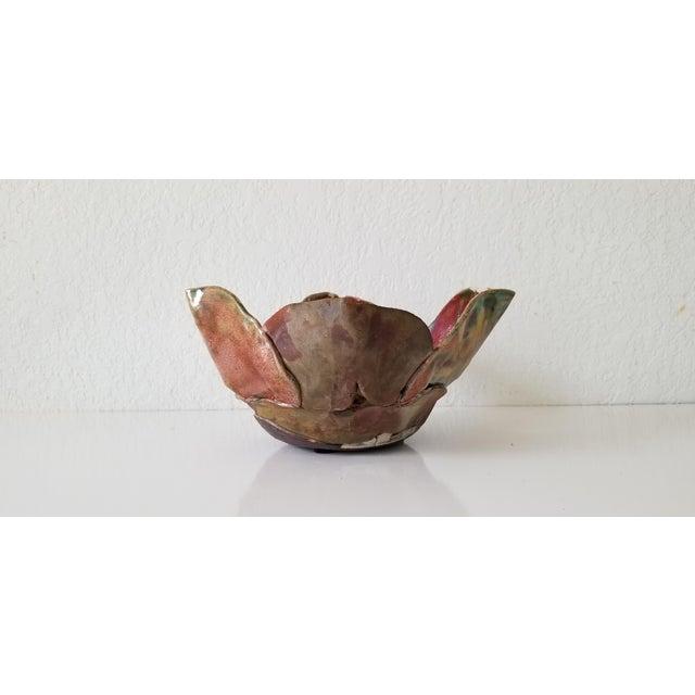 1980s Vintage Sculptural Art Pottery Vase . For Sale - Image 5 of 11
