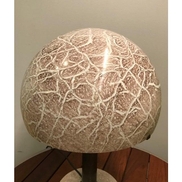Mid-Century Modern Pair Venini Glass Mushroom Lamps For Sale - Image 3 of 7
