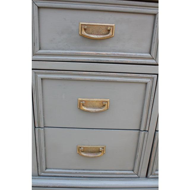Mid-Century Dark Grey Dresser - Image 3 of 5