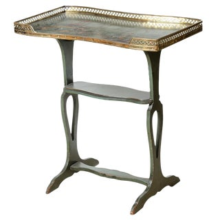 French Green Chinoiserie Gallery Table For Sale