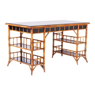 Midcentury Colonial Style Desk by Baker For Sale