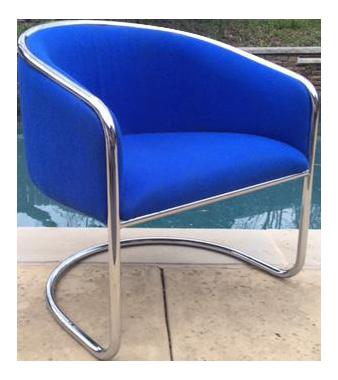 Vintage Anton Lorenz For Thonet Barrel Back Club Chair
