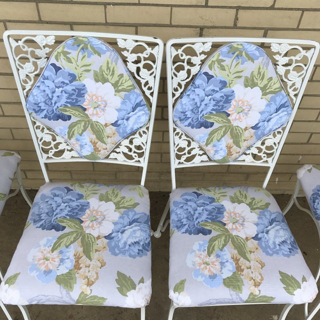 "Iron ""Garden Party"" Chairs - Set of 4 For Sale - Image 5 of 6"