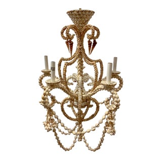 Large Scale Shell Chandelier -5 Arm For Sale