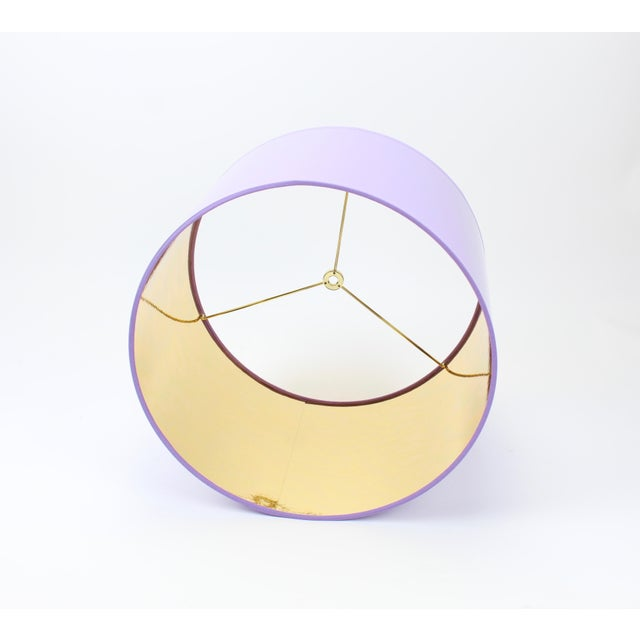 Not Yet Made - Made To Order HIgh Gloss Lavender Drum Lamp Shade With Gold LIning For Sale - Image 5 of 8