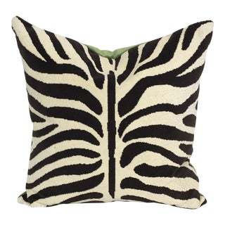 Schumacher Zebra Pillow For Sale