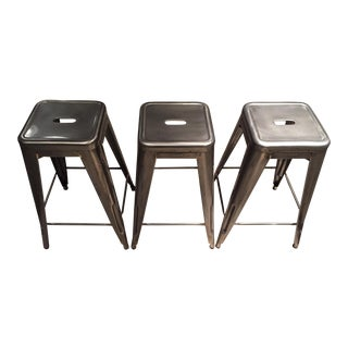 Authentic Tolix Counter Stools - Set of 3 For Sale
