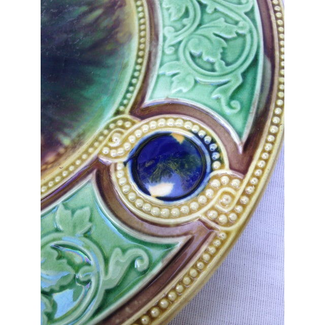 Antique Majolica Wall Plate - Image 4 of 5