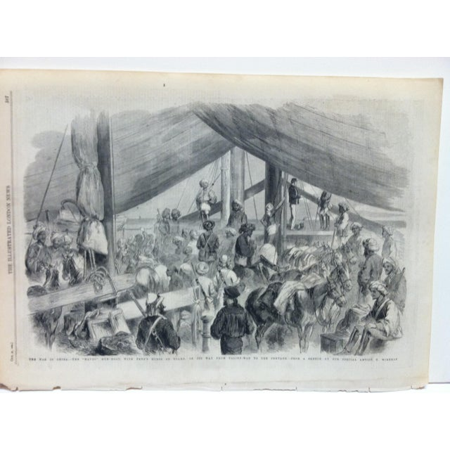 "This is an Antique Original Print from The Illustrated London News that is titled ""The War In China - The Havoc Gun-Boat""..."
