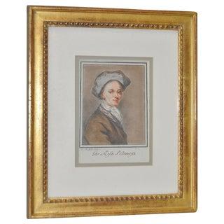 1900s European Watercolor Portrait For Sale