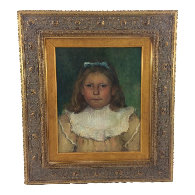 19th Century Portrait of a Child Painting For Sale
