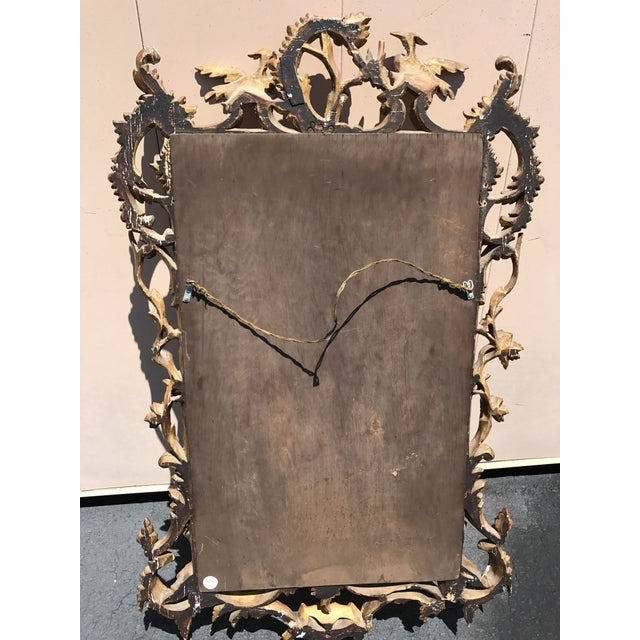 Wood 19th Century Antique English Gilt Wood Rococo Chippendale Mirrors - a Pair For Sale - Image 7 of 12