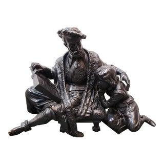 "Late 19th Century Antoine Pierre Aubert - ""Doctrine Des Moeurs"" Bronze Sculpture (France) For Sale"