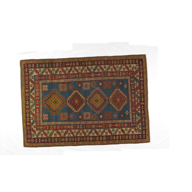 Antique Kazak Carpet - 5′2″ × 7′ - Image 2 of 6