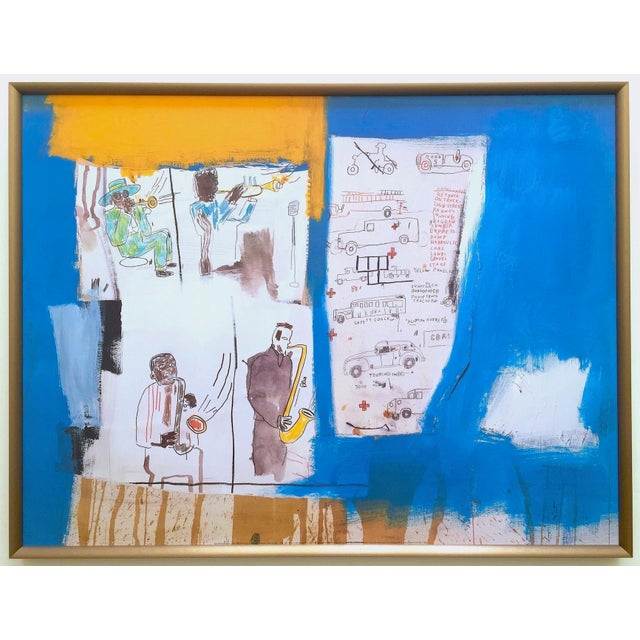 """Jean Michel Basquiat Rare Vintage 1997 Framed Lithograph Fine Art Print """" Worthy Constituents """" 1986 For Sale - Image 13 of 13"""