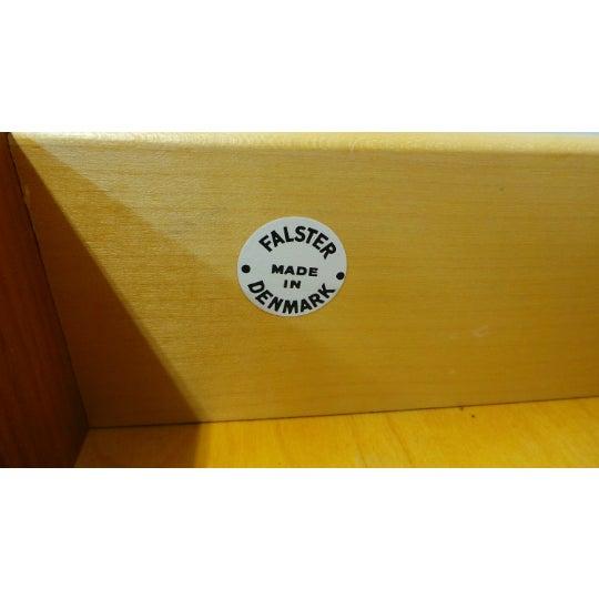 Brown 1960s Mid Century Danish Modern Teak Chest 5 Drawer Dresser by Falster For Sale - Image 8 of 9