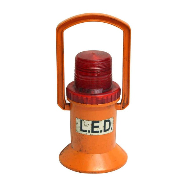 Orange NYC Subway Light by Dorman For Sale - Image 8 of 10