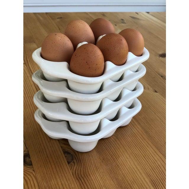 Italian Ceramic Egg Cartons - Set of 4 For Sale - Image 11 of 12