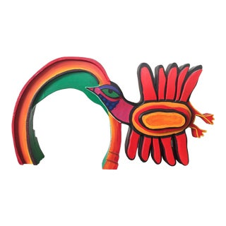 A 1970s Colorful Bird and Rainbow Sculpture by Belgian Master, Corneille