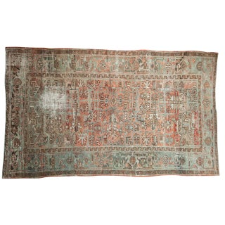 "Vintage Distressed Mehrivan Carpet - 5'7"" X 9'3"""